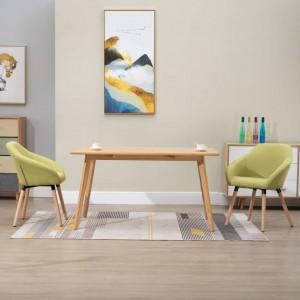 Scaune de sufragerie, 2 buc., verde, material textil - V283464V