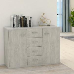 Servanta, gri beton, 88 x 30 x 65 cm, PAL - V800688V