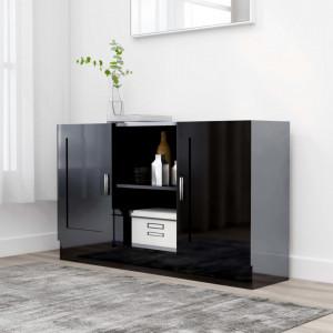 Servanta, negru extralucios, 120 x 30,5 x 70 cm, PAL - V802784V
