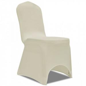 Set huse elastice pentru scaune 50 buc. Crem - V130340V