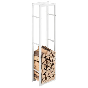 Suport lemne foc Kasan 6, 40 x 150 x 25 cm, otel, alb - P71406190