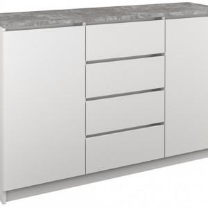 TECOA-G102 - Comoda 120 x 40 x 98 cm, Alb-Gri