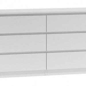 TECOA120 - Comoda 138 x 40 x 75 cm, Alb-Mat
