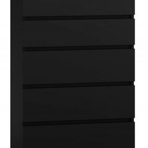 TECON108 - Comoda 70 x 40 x 112 cm, Negru-Mat
