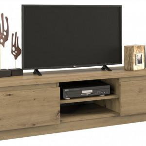 TECOTVAR104 - Comoda TV 140 x 40 x 36 cm, Stejar Artisan
