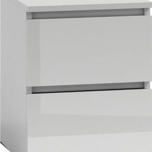 TENOA110 - Noptiera 40 x 40 x 52 cm, Alb-Lucios