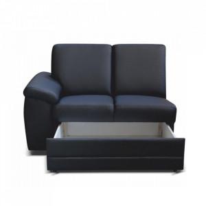 2- şed cu Mânere şi spaţiu pentru depozitare, piele eco neagră, stânga, BITER 2 1B ZS