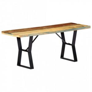 Banca, 110 cm, lemn masiv reciclat - V247952V