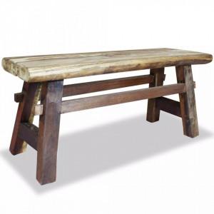Banca din lemn masiv reciclat 100x28x43 cm - V244497V