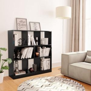 Biblioteca, negru lucios, 97,5 x 29,5 x 100 cm, PAL - V800178V