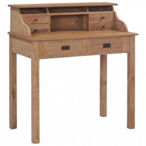Birou, 90x50x100 cm, lemn masiv de tec - V282851V