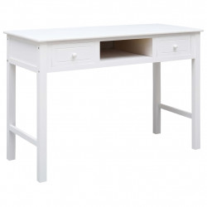 Birou de scris, alb, 110 x 45 x 76 cm, lemn - V284157V