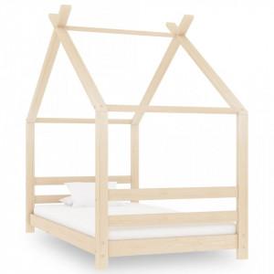 Cadru de pat pentru copii, 80 x 160 cm, lemn masiv de pin - V289608V