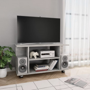 Comoda TV cu rotile, gri beton, 80 x 40 x 40 cm, PAL - V800193V