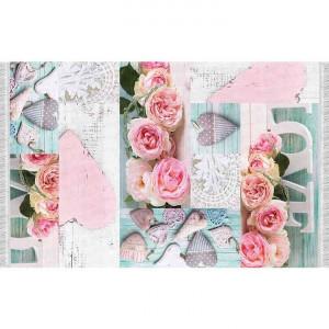 Covor 80x150 cm, model trandafiri, multicolor, SONIL TYP 2
