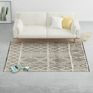Covor lana tesut manual, negru/alb, 140 x 200 cm - V284378V
