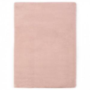 Covor, roz invechit, 140 x 200 cm, blana ecologica de iepure - V285085V
