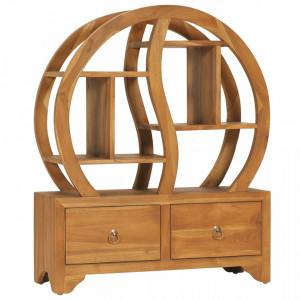 Dulap cu raft Yin Yang, 68 x 26 x 83 cm, lemn masiv de tec - V320773V