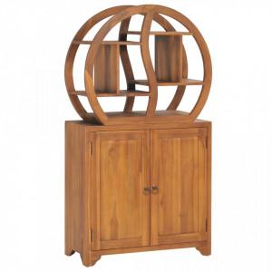 Dulap cu raft Yin Yang, 70 x 30 x 130 cm, lemn masiv de tec - V320774V