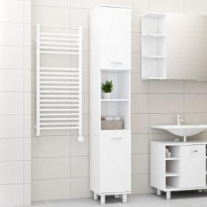 Dulap de baie, alb extralucios, 30 x 30 x 179 cm, PAL - V802630V