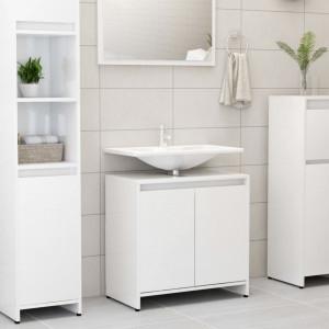 Dulap de baie, alb extralucios, 60 x 33 x 58 cm, PAL - V802648V