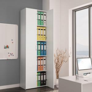 Dulap de birou, alb, 60x32x190 cm, PAL - V800297V