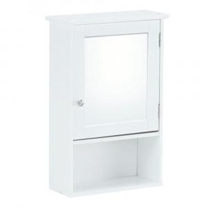 Dulap suspendat cu oglindă, alb, ATENE TYPUL 2