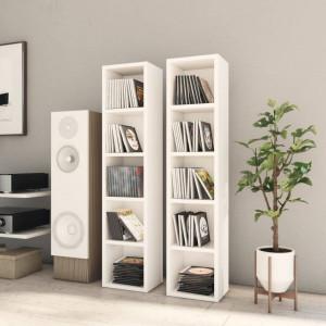Dulapuri CD-uri, 2 buc., alb, 21 x 16 x 93,5 cm, PAL - V802696V