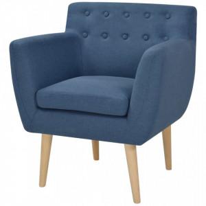 Fotoliu, albastru, material textil - V244067V