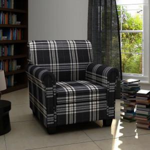 Fotoliu cu perna, negru, material textil - V240977V