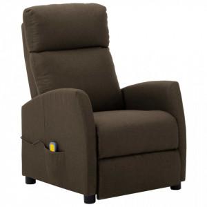 Fotoliu rabatabil de masaj, maro, material textil - V289710V