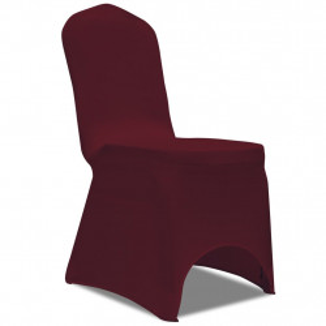 Huse elastice pentru scaun, 100 buc., bordo - V274767V