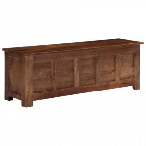 Lada de depozitare, 120x30x40 cm, lemn masiv de mango - V247697V