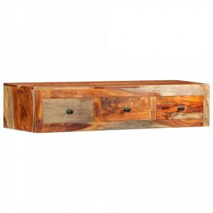 Masa consola de perete, 100x25x20 cm, lemn masiv de sheesham - V247749V