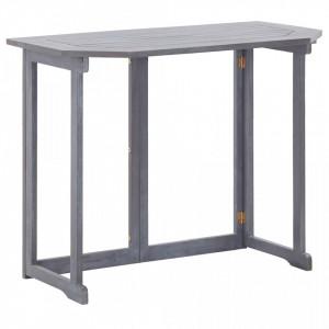Masa de balcon pliabila, 90x50x74 cm, lemn masiv de acacia - V46326V
