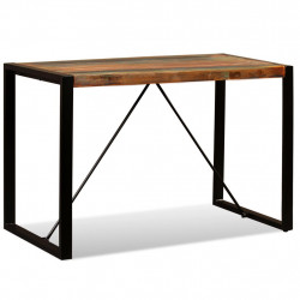 Masa de bucatarie din lemn masiv reciclat, 120 cm - V243998V