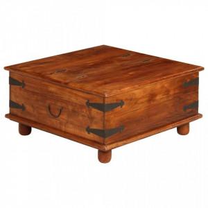 Masa de cafea, lemn masiv acacia, finisaj sheesham 80x80x40 cm - V245653V