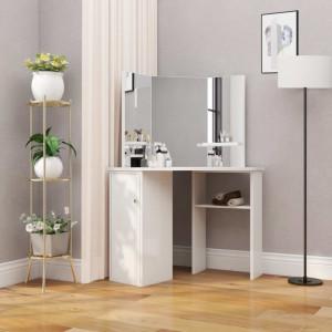 Masa de toaleta coltar, masa pentru machiaj si cosmetice, alb - V288451V