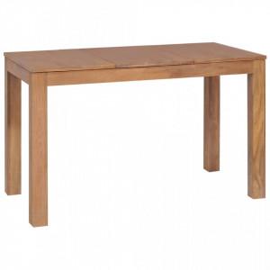 Masa, lemn masiv de tec cu finisaj natural, 120 x 60 x 76 cm - V246953V