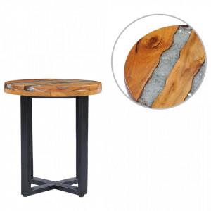 Masuta de cafea, 40 x 45 cm, lemn masiv de tec si polirasina - V281652V
