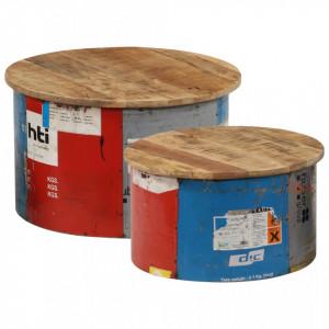 Masute de cafea, 2 buc., lemn masiv de mango - V247576V