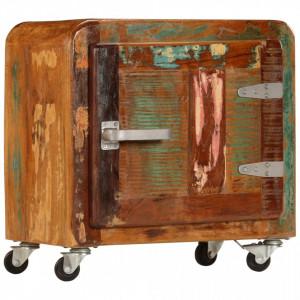 Noptiera, 50 x 30 x 50 cm, lemn masiv reciclat - V247514V