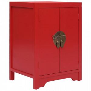 Noptiera, rosu, 38 x 28 x 52 cm, lemn de paulownia - V284074V