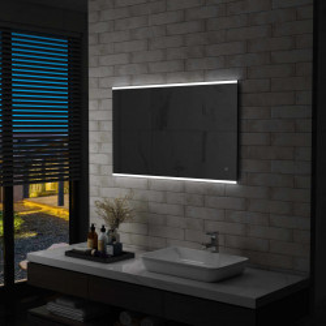 Oglinda cu LED de perete de baie cu senzor tactil, 100 x 60 cm - V144734V