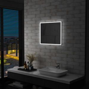 Oglinda cu LED de perete pentru baie, 60 x 50 cm - V144726V