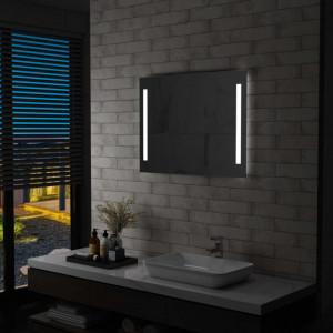 Oglinda de perete de baie cu LED, 80 x 60 cm - V144706V