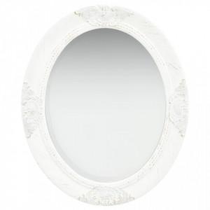 Oglinda de perete in stil baroc, alb, 50 x 60 cm - V320348V
