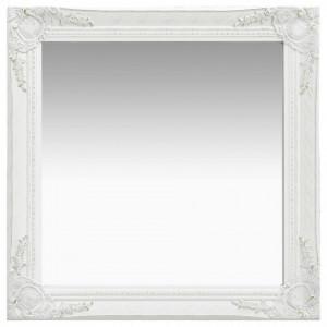 Oglinda de perete in stil baroc, alb, 60 x 60 cm - V320332V