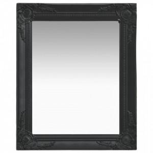 Oglinda de perete in stil baroc, negru, 50 x 60 cm - V320319V