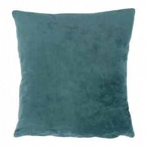 Pernă, material textil de catifea petrol, 60x60, OLAJA TIPUL 5